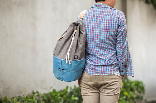 Trip Canvas Backpack - Grey (for him) - WEMUG