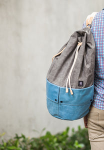 Trip Canvas Backpack - Grey (for him) - h-a-n-d
