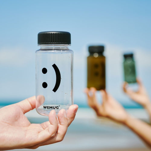 WEMUG Mini Emoji water bottle 12oz, 4 colors, BPA-Free, leaksafe, Light and Durable - WEMUG