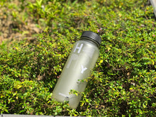 Load image into Gallery viewer, Happy Water Bottle - Light Grey - h-a-n-d