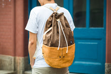 Load image into Gallery viewer, Trip Canvas Backpack, Rucksacks - Brown (for Him) - WEMUG