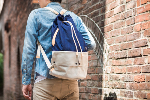 Trip Canvas Backpack - Blue (for him) - h-a-n-d