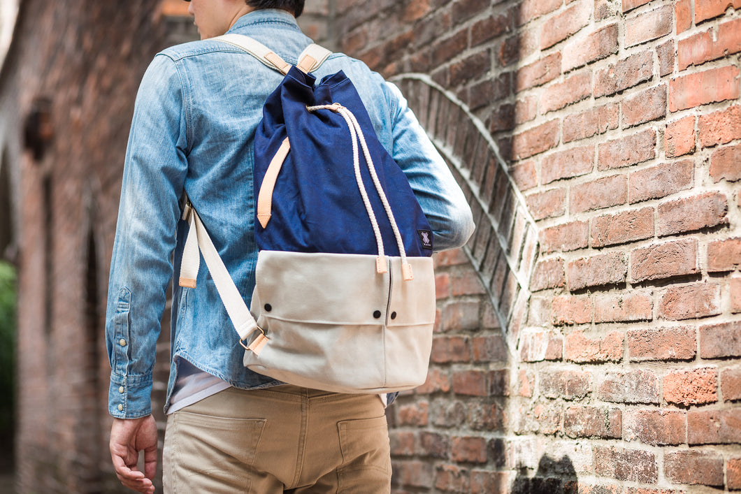 Trip Canvas Backpack - Blue (for him) - WEMUG
