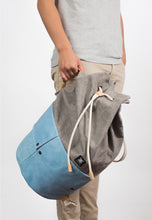 Load image into Gallery viewer, Trip Canvas Backpack - Grey (for him) - h-a-n-d