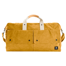 Load image into Gallery viewer, Travel Bag, Italy Canvas, Italy cow leather - Trip Weekender - Yellow