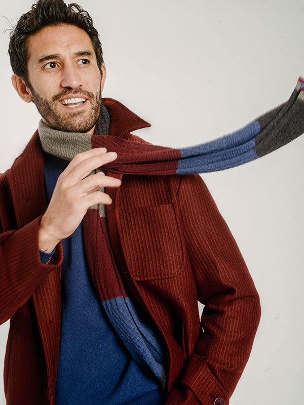 Men's Scarves | 40 Colori Made in Italy Menswear