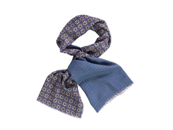 REVERSIBLE PROPELLER PRINTED WOOL AND SILK SCARF
