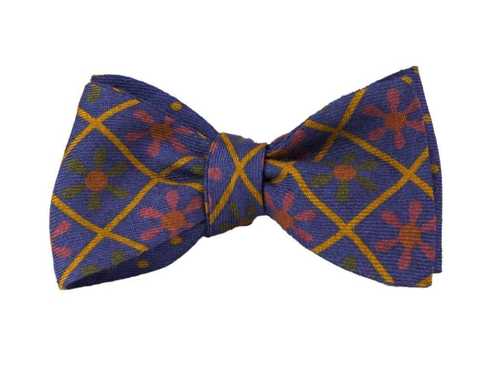 Propeller Printed Wool & Silk Butterfly Bow Tie