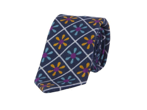 PROPELLER PRINTED WOOL AND SILK TIE
