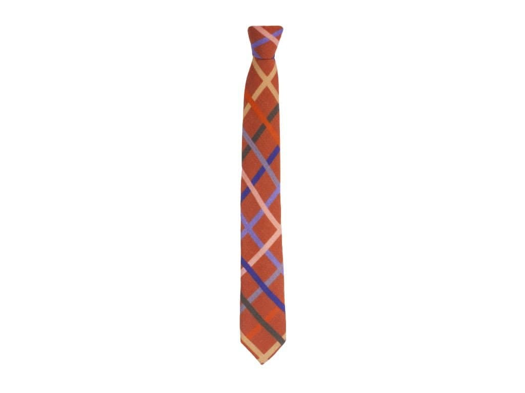 Criss-Cross Printed Wool Tie