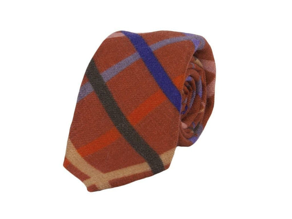 CRISSCROSS PRINTED WOOL TIE