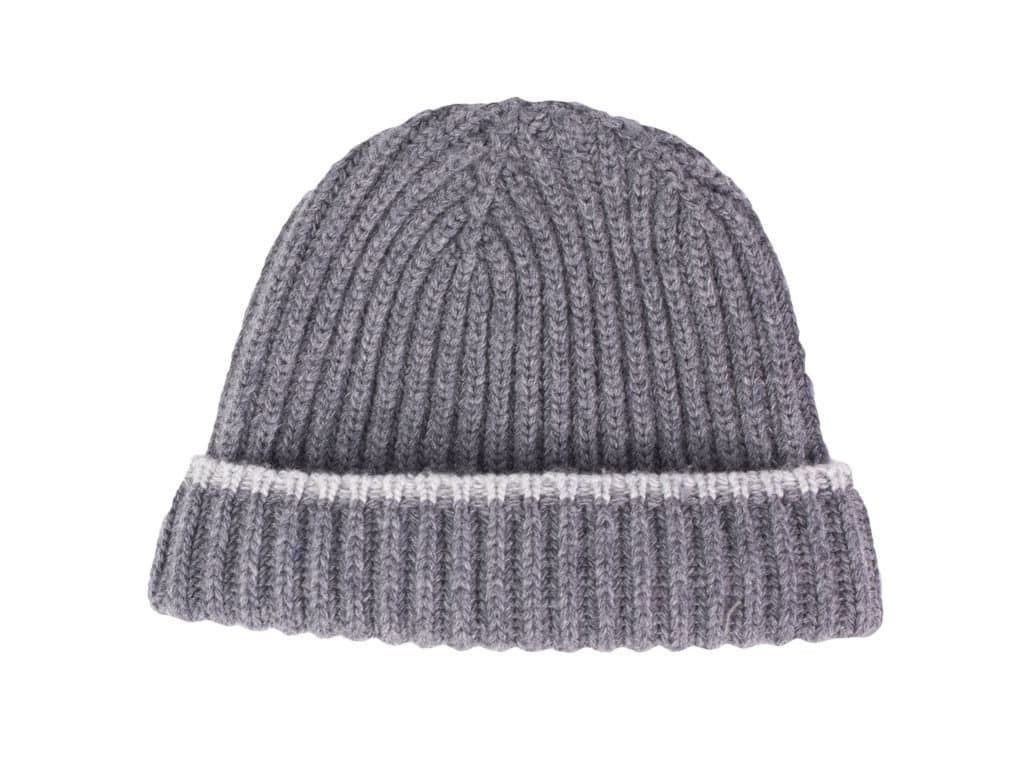 RIBBED WOOL AND CASHMERE BEANIE