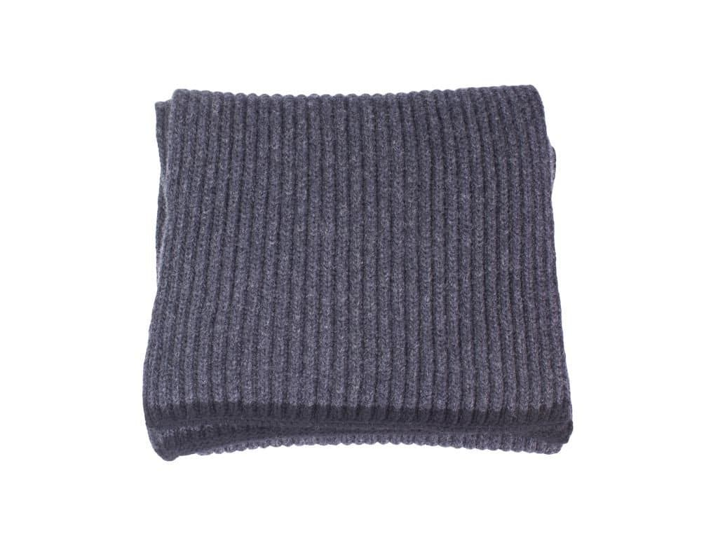 Ribbed Wool & Cashmere Scarf