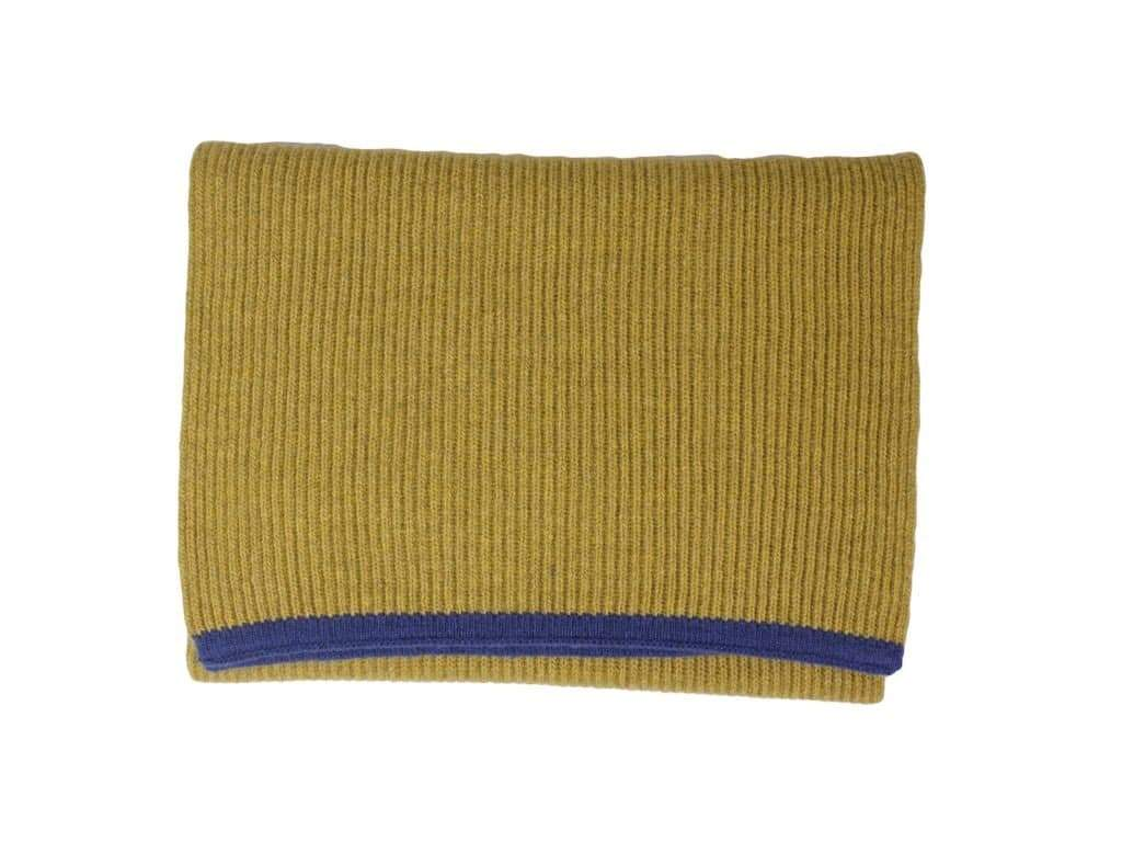 Small Ribbed Wool & Cashmere Scarf