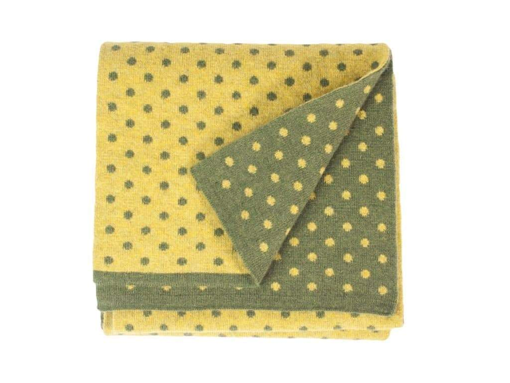 DOTTED WOOL AND CASHMERE SCARF