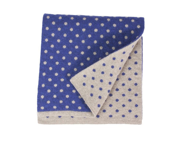 Dotted Wool & Cashmere Scarf