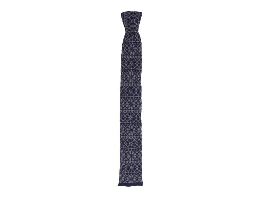 FAIR ISLE WOOL AND CASHMERE KNITTED TIE