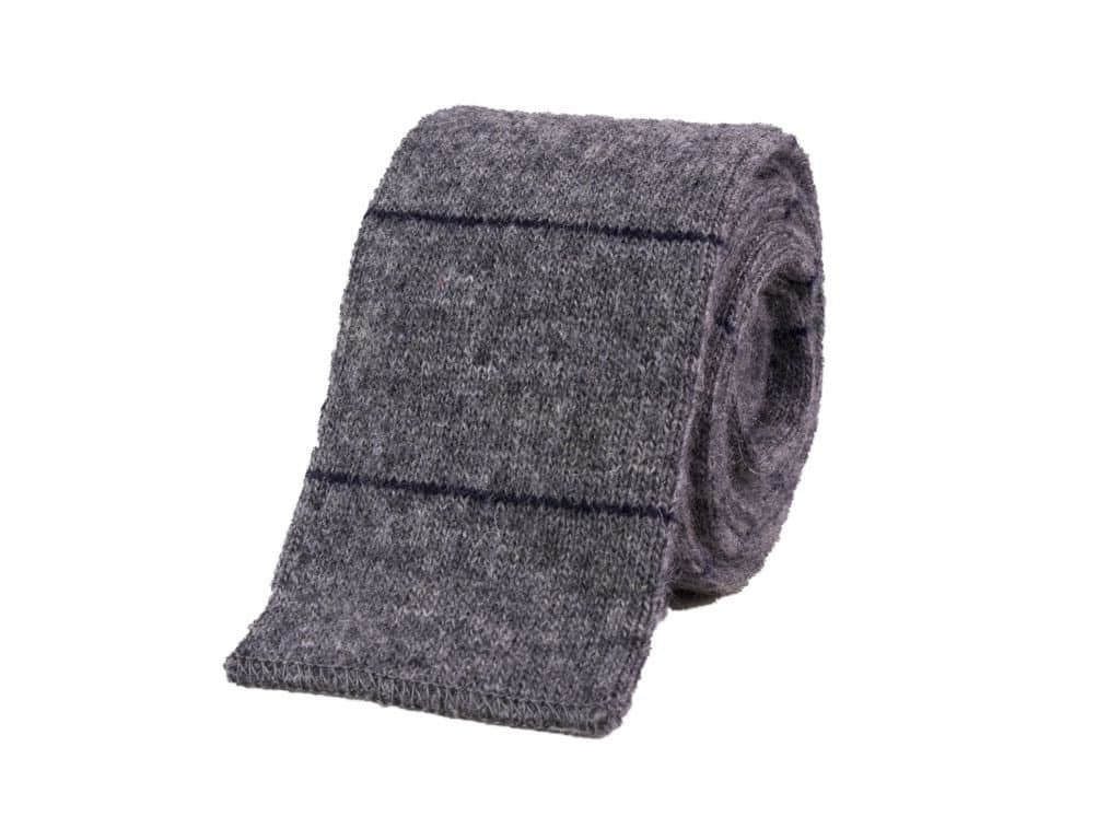 Micro Bar Striped Cashmere Knitted Tie