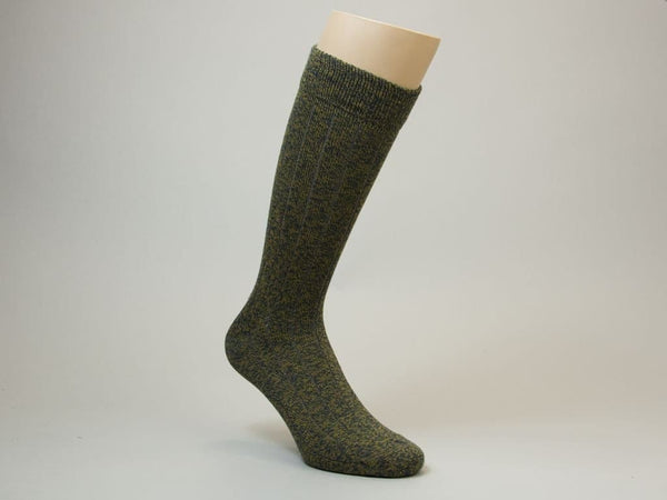 SOLID THICK RIBBED COTTON SOCKS