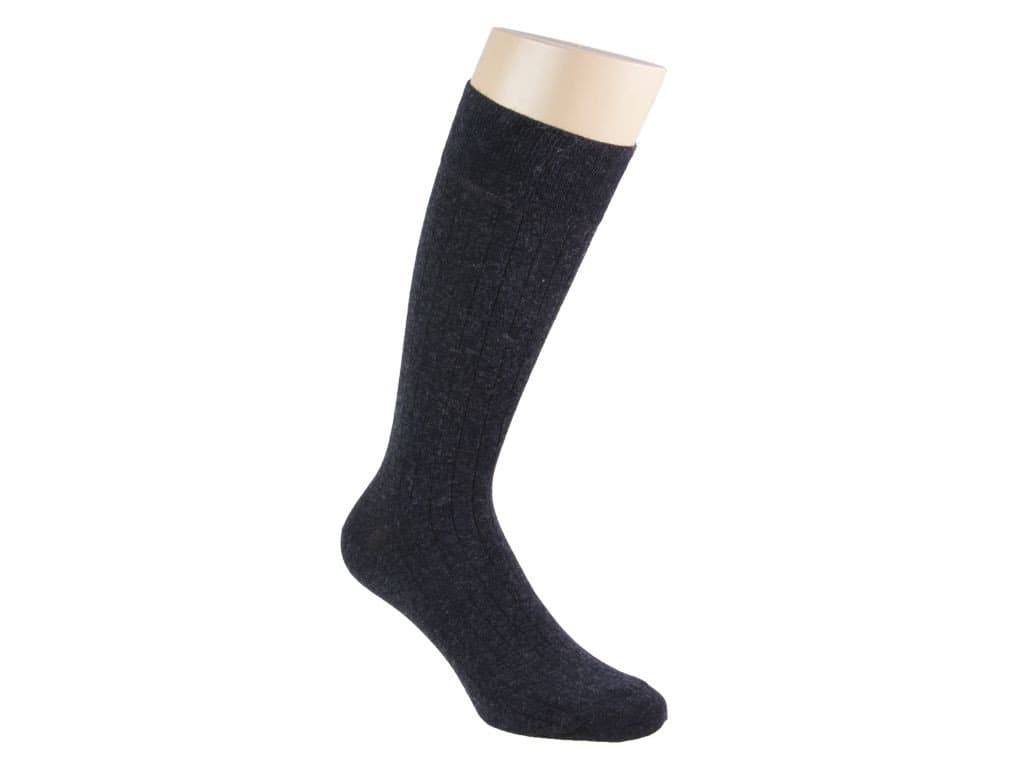 SOLID CASHMERE AND COTTON SOCKS