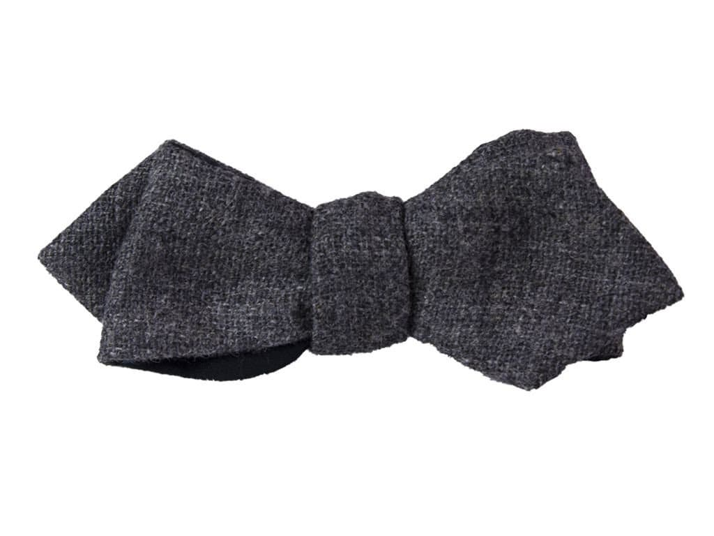 GREY WOOL SPENCER BOW TIE