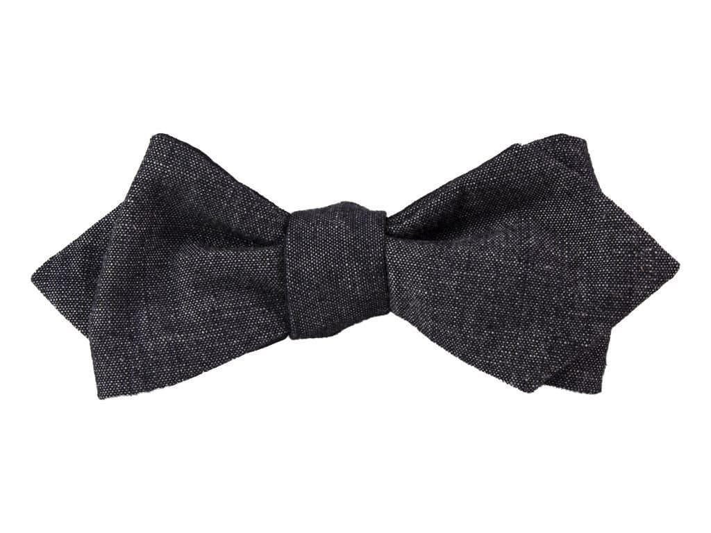 GREY DENIM SPENCER BOW TIE