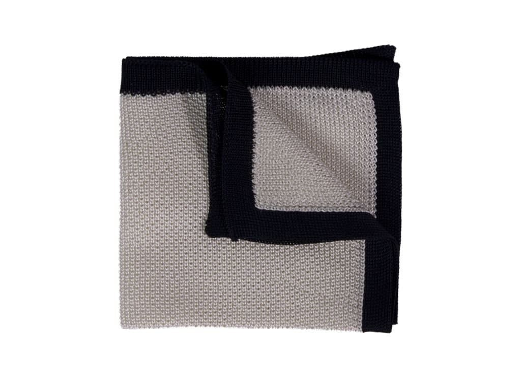 Solid Silk Knitted Pocket Square
