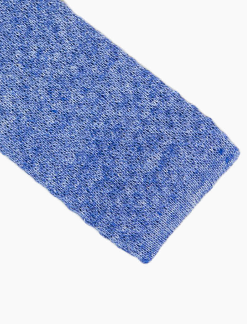 Light Blue Solid Melange Linen Knitted Tie | 40 Colori