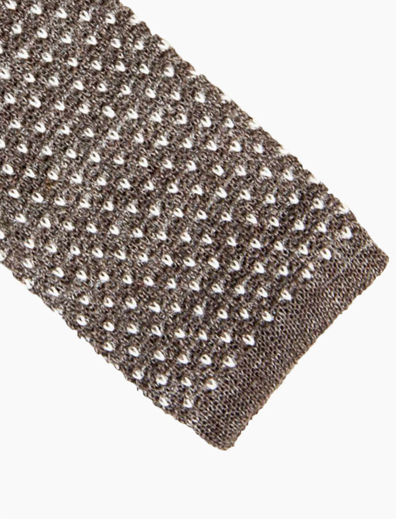 Small Dotted Linen Knitted Tie