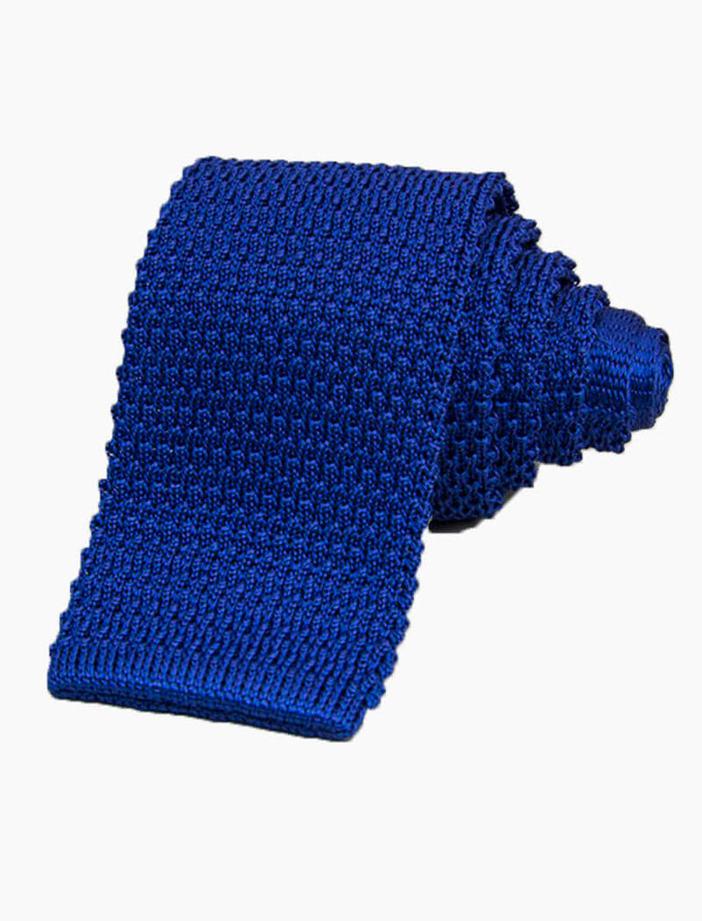 SOLID SILK KNITTED TIE