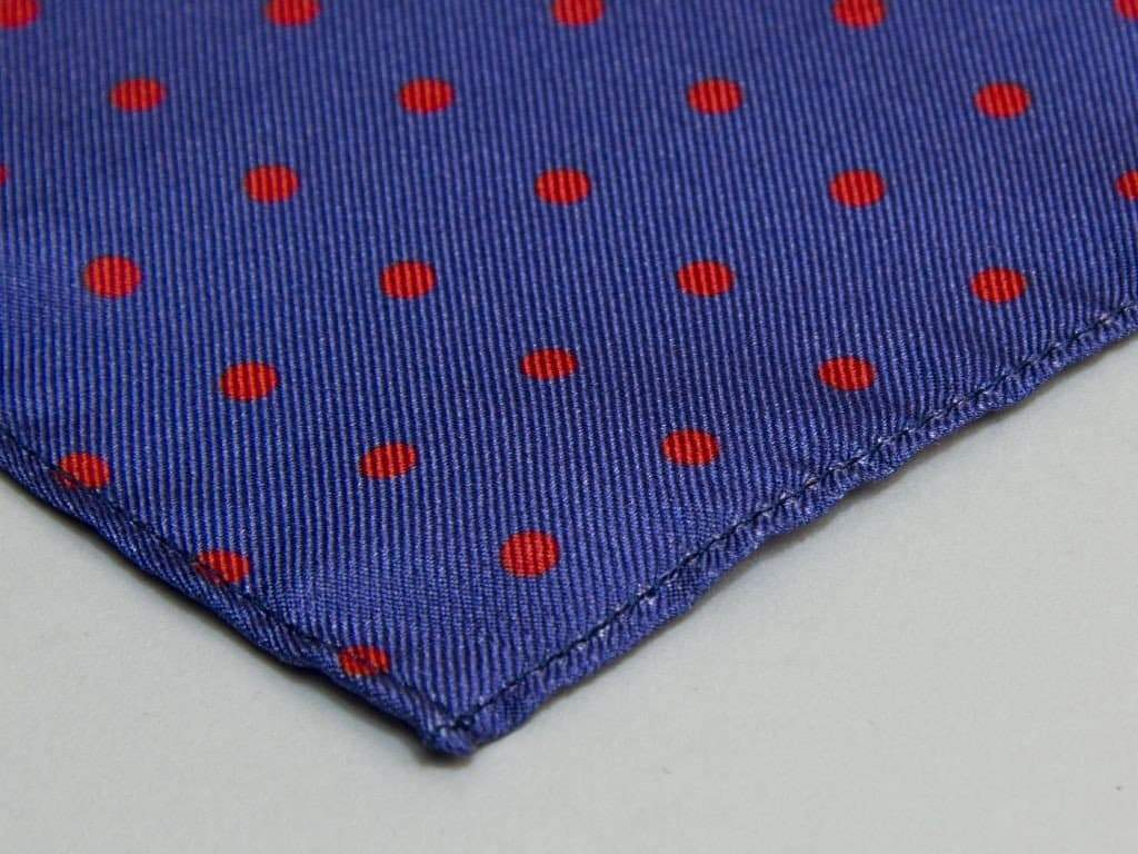 Polka Dot Printed Silk Pocket Square