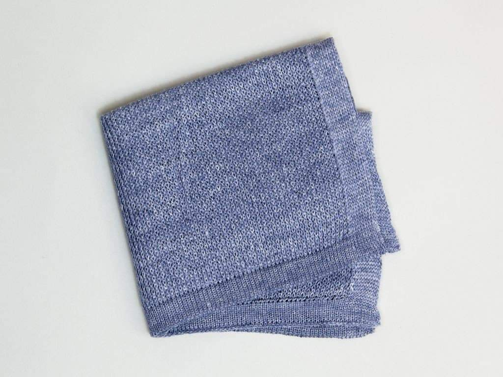 SOLID KNITTED LINEN POCKET SQUARE