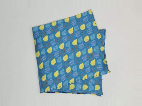 Drops Printed Linen Pocket Square