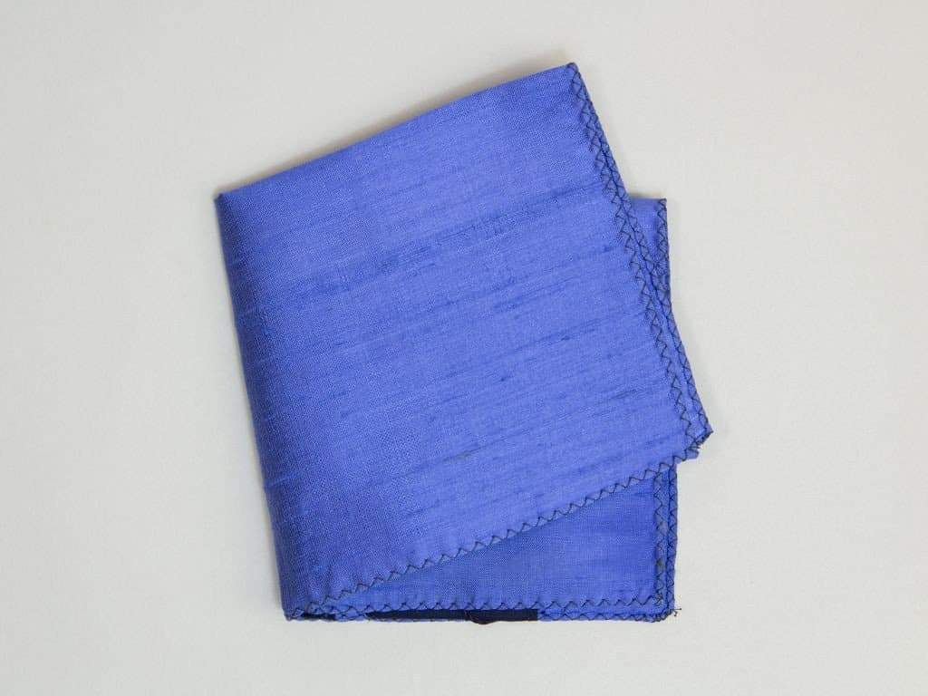 SOLID CAMBODIAN SILK POCKET SQUARE