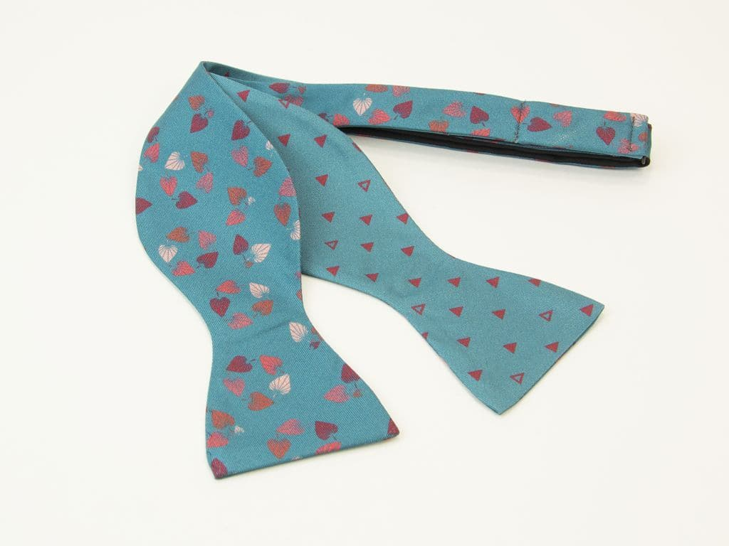 Birch Printed Silk Butterfly Bow Tie