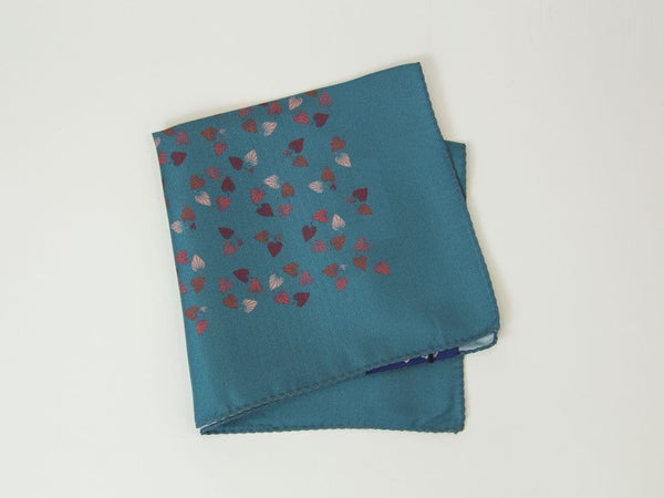 Birch Printed Silk Pocket Square