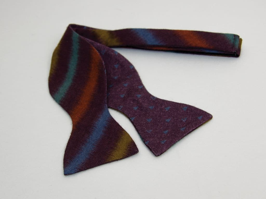 Auroras Printed Butterfly Bow Tie