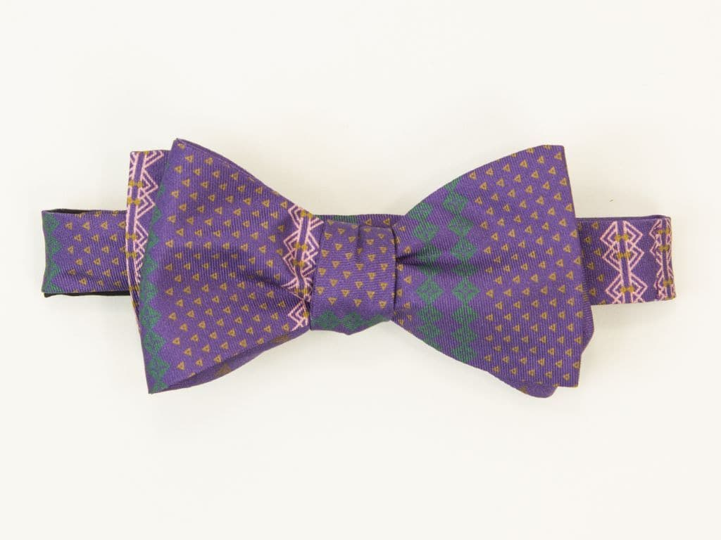 Fair Isle Printed Butterfly Bow Tie