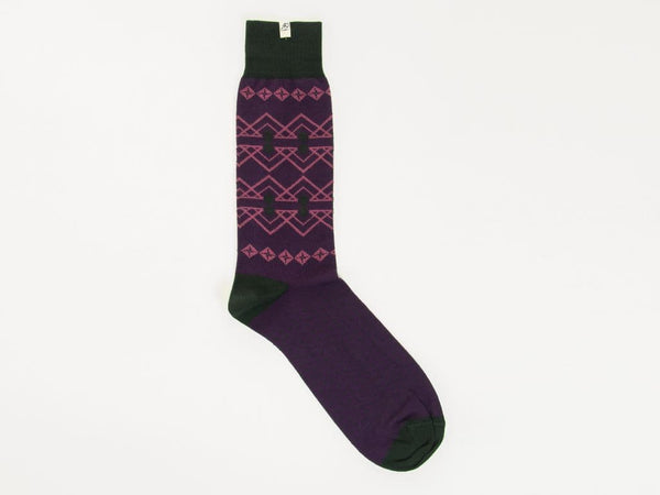 FAIR ISLE ORGANIC COTTON SOCKS