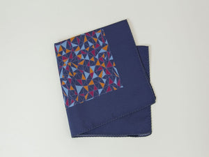 Mosaic Printed Silk Pocket Square