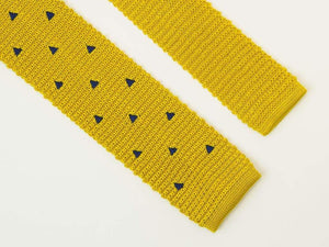 Embroidered Trianlges Silk Knitted Tie