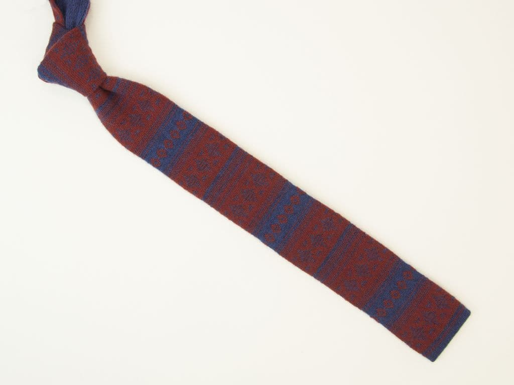 NORWEGIAN WOOL AND CASHMERE KNITTED TIE