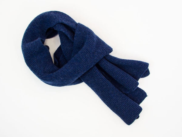 SOLID WOOL AND CASHMERE SCARF