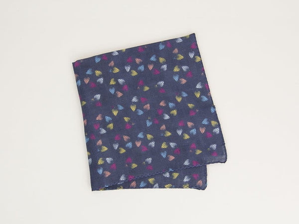Birch Printed Linen Pocket Square