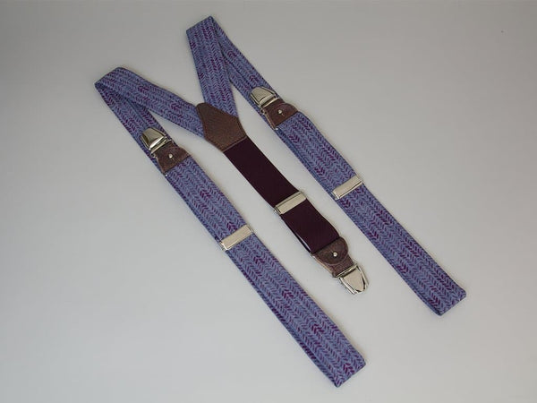 LEAVES PRINTED DENIM BRACES