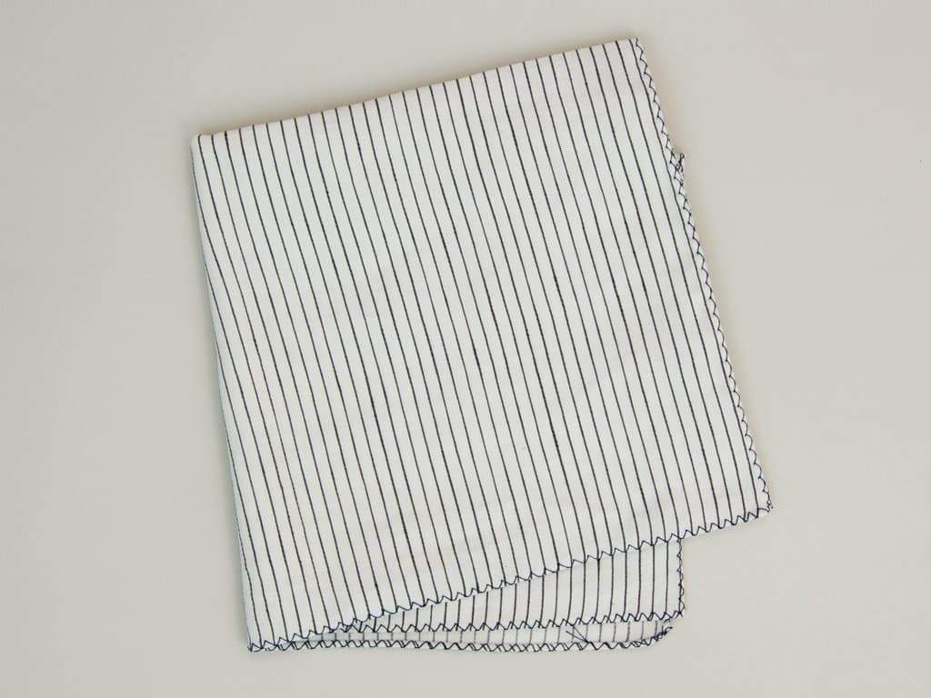 STRIPED COTTON POCKET SQUARE