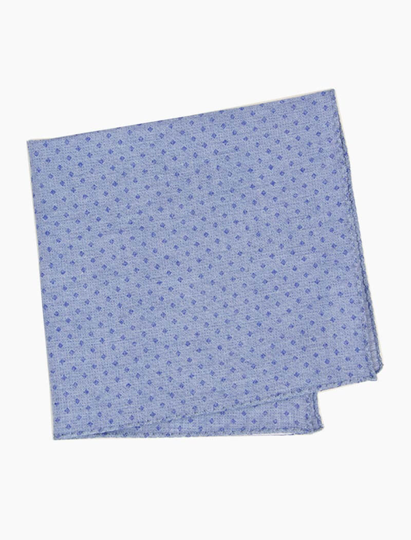 Diamond Printed Denim Bandana