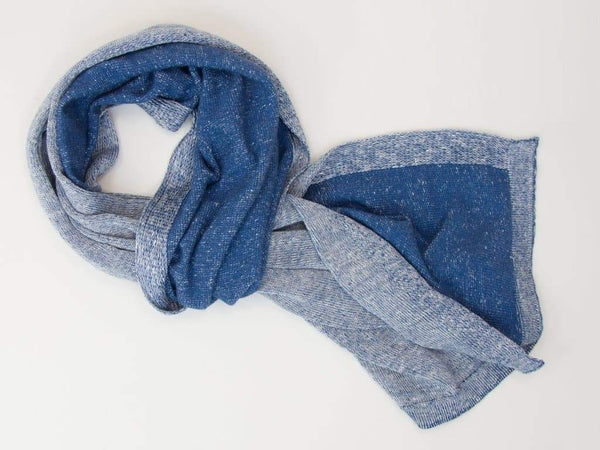 REVERSIBLE LINEN AND COTTON KNITTED SCARF