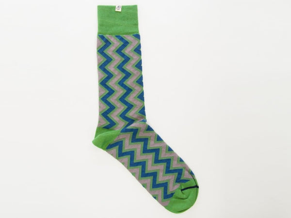 Vertical Chevron Striped Organic Cotton Socks