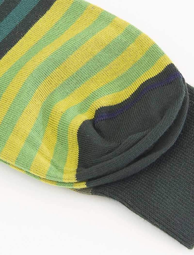 Green Gradient Striped Organic Cotton Socks | 40 Colori